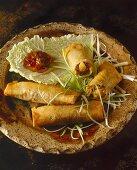 Poh Piah Tod (Thai spring rolls)