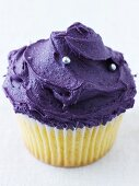 Cupcake with purple icing