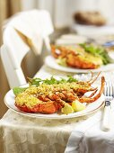Stuffed lobster for Christmas