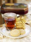 Tea and shortbread for Christmas (Scotland)