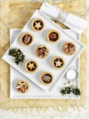 A selection of Christmas mince pies