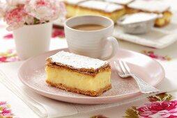 Napoleonka (cream slices with pudding, Poland)
