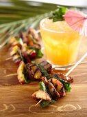 Lamb and nectarine kebabs