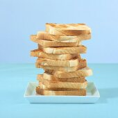 A stack of toast