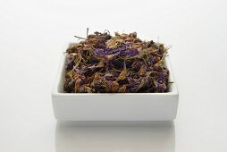 Dried purple delphinium