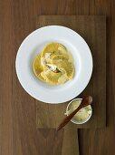 Weisswurst ravioli