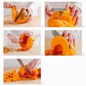 Preparing pumpkin