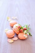 Macaroons with rose cream