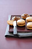 Hazelnut macaroons with chestnut cream
