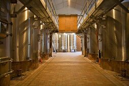 Wine production at Chateau Lynch-Bages Winery, France