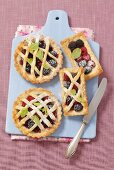 Assorted berry tarts