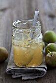 A jar of apple jam