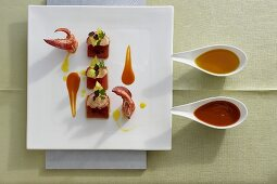 Lobster with watermelon