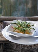 Dünensuppe (fish soup with seaweed and tarragon, North Germany)
