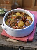 Shoulder of spring lamb with potatoes