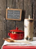 A specials menu on a wooden wall