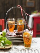 Spritz Royal with champagne, Aperol and orange