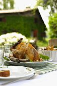 Faraona all'arancia (guinea fowl with orange zest, Italy)