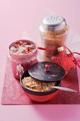 Rose and cinnamon salt as a gift