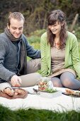 A couple having a picnic