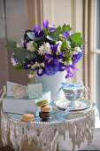 Macaroons, wedding presents and a bunch of flowers
