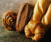 Danish; Croissant; French Bread; Wheat Roll
