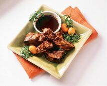 Barbecued Pork Ribs with Soya Dip (Asia)