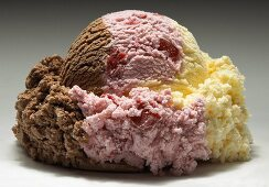 A Single Scoop of Neopolitan Ice Cream