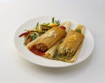 Beef and Chicken Tamales