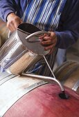 Topping off Wine Barrel After Refilling