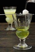 Looshing Absinthe; Adding Water and Sugar to Absinthe