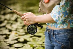 Woman with Fly Rod