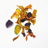 Exotic Vegetable Chips; Blue Potato, Japanese Squash and Carrot