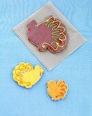 Decorated Turkey Sugar Cookies