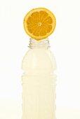 Lemon Slice on Bottle of Flavored Vitamin Water
