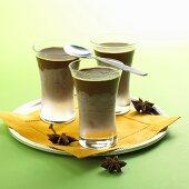 Three Glasses of Iced Hot Chocolate