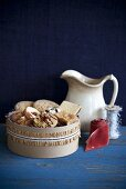 Box of Assorted Cookies; Pitcher and Ribbons