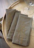 Embroidered serviettes