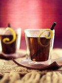 Winter cocktail with licorice, Black Sambuca and vanilla vodka