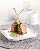 Maroccan lamb cutlets with pistachio crust