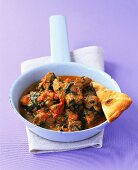 Lamb curry with spinach