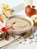 Cereal with apple and banana