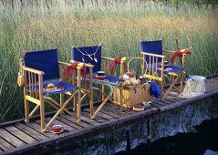 Fishermen's picnic on a landing stage