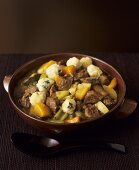 Lamb and vegetable stew with dumplings