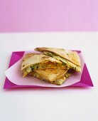 Carrot and courgette quesadillas