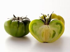 Whole and Half Green Tomatoes