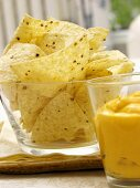 Tortilla Chips with Nacho Dip