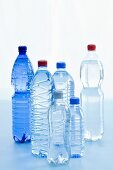 Various bottles of mineral water