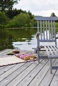A deckchair on a jetty