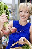 Woman with beetroot